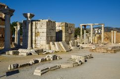 The church of Saint Apostle John in Selcuk. The ruins of the church of Saint Apostle John in Selcuk, Ephesus, Turkey Stock Images