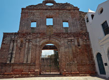 Ruins of church Santo Domingo convent in Panama Stock Photo