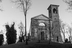 Ruins of the church. Settefonti Italy Stock Photography