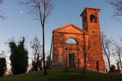 Ruins of the church. Settefonti Italy Stock Photo