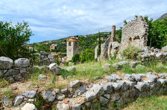 Ruins of church of St. Catherine and Clock tower, Bar, Montenegr Stock Photography