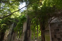 The ruins of the church of St Dunstan-in-the-East. In the heart of London Stock Images