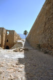 Ruins. Church of St. George in the castle of Kyrenia - Turkish Cyprus Stock Photo