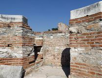 Ruins Church St. John in Selcuk Turkey. Basilica of St. John in Selcuk (Ephesus) Turkey Royalty Free Stock Image