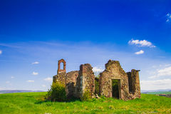 Ruins church in Val d'orcia Royalty Free Stock Photography
