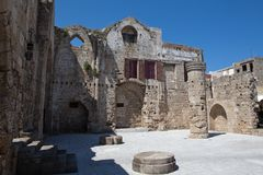 Ruins of church of the virgin of the burgh Stock Image