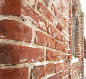 The ruins of the church wall in ancient russian Royalty Free Stock Photography