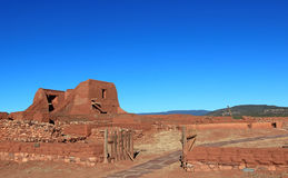 ruins, church at Pecos Stock Photography