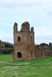 Ruins from Circo di Massenzio in Via Apia Antica at Roma Royalty Free Stock Photo