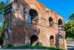 Ruins at Circulus Maximus in Rome, Italy Royalty Free Stock Photos