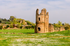 Ruins of the Circus of Maxentius Stock Image