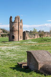 Ruins of the Circus of Maxentius in Rome Royalty Free Stock Images