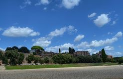 The ruins of the Circus Maximus royalty free stock photos