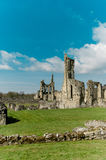 Ruins of Cistercian abbey. Ancient stone ruins of a Medieval Cistercian Abbey Stock Images
