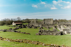 Ruins of Cistercian abbey. Ancient stone ruins of a Medieval Cistercian Abbey Stock Photo