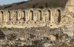 Ruins of Cistercian abbey. Ancient stone ruins of a Medieval Cistercian Abbey Stock Photography