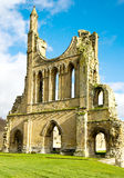 Ruins of a Cistercian Monastry. The ruins of a medieval Cistercian monastry in the sunshine Royalty Free Stock Photos