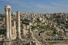 Ruins of the Citadel in Amman Royalty Free Stock Photo