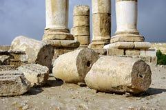 Ruins of citadel. Amman. Jordan. Stock Photography