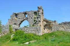Ruins of the citadel of Mangup-Kale Royalty Free Stock Photo