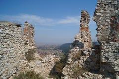 Ruins citadel Rasnov, Romania stock photos