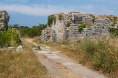 Ruins of city gate in the ancient city of Solin (Salona) Royalty Free Stock Image