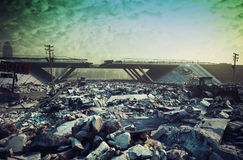 Apocalyptic landscape Royalty Free Stock Photography