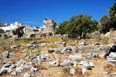 Ruins in the city of Kos Stock Photos
