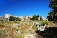 Ruins in the city of Kos Royalty Free Stock Images