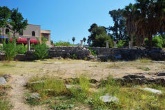 Ruins in the city of Kos Stock Images