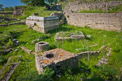 Ruins of the City of Troy Royalty Free Stock Photos