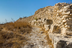 The Ruins of the City Wall. And the path running along them Stock Photos