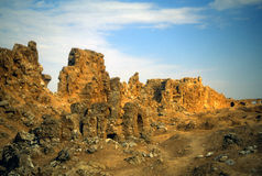 Ruins of city walls Royalty Free Stock Images