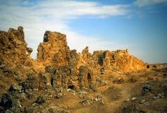 Ruins of city walls royalty free stock images