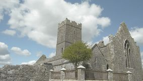 Ruins of Clare Abbey near Ennis, Co. Clare - Ireland stock video footage