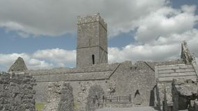 Ruins of Clare Abbey near Ennis, Co. Clare - Ireland stock video