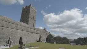 Ruins of Clare Abbey near Ennis, Co. Clare - Ireland stock footage
