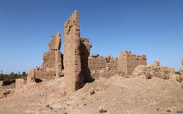 Ruins of clay structures Royalty Free Stock Photography
