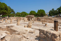 Ruins. Cleared the ruins of ancient buildings Royalty Free Stock Image