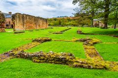 Ruins of Cleeve Abbey in Washford, Somerset, England, UK. Washford, Somerset, England: Ruins of Cleeve Abbey founded in late 12th century as a house for monks of royalty free stock photos