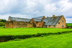 Ruins of Cleeve Abbey in Washford, Somerset, England, UK. Washford, Somerset, England: Ruins of Cleeve Abbey founded in late 12th century as a house for monks of stock image