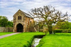 Ruins of Cleeve Abbey in Washford, Somerset, England, UK. Washford, Somerset, England: Ruins of Cleeve Abbey founded in late 12th century as a house for monks of royalty free stock images