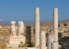 Ruins of Cleopatra house, Delos, Greece Stock Photos