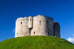 Ruins of Clifford Tower Stock Photos