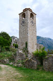 Ruins of clock tower in Old Bar, Montenegro Royalty Free Stock Image