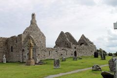 The ruins from Clonmacnoise in Ireland. Royalty Free Stock Images