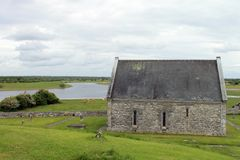 The ruins from Clonmacnoise. Stock Photos