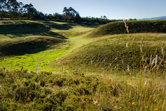 Ruins of Cochasqui pyramids, archaeological site Royalty Free Stock Photography