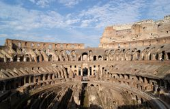 Ruins of Colisseum in Rome Royalty Free Stock Photo