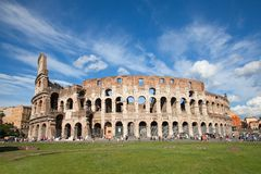 Colloseum. Ruins of the colloseum in Rome, Italy Stock Photo